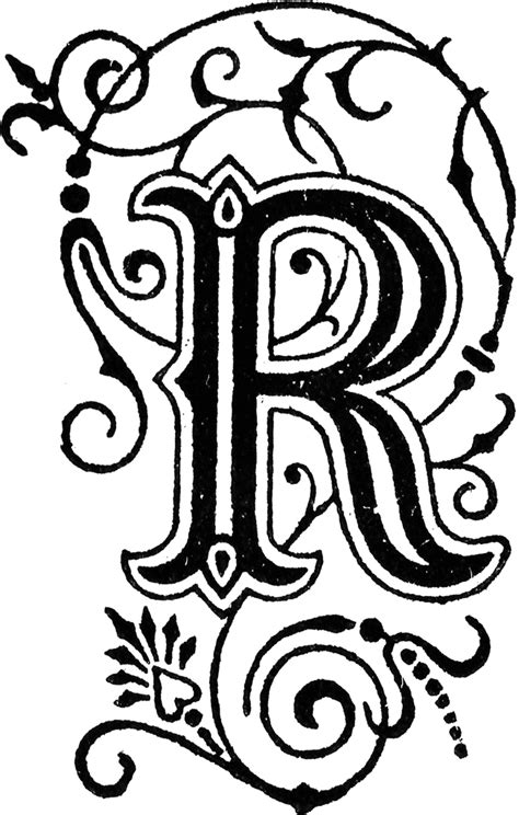 Image Of The Letter R  Letter  Clipart Etc  Lettering  Lettering, Fancy Letters
