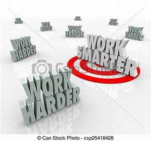 Stock Photo of Work Smarter Targeted Productivity ...