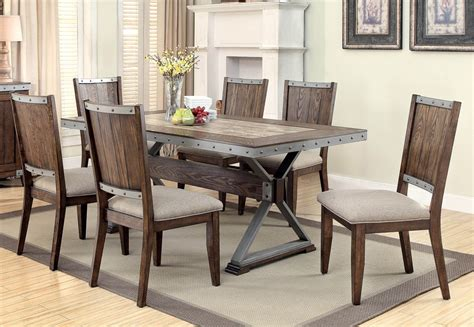industrial looking dining room tables doran industrial style dining table set