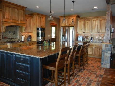hickory kitchen island hickory kitchen cabinets hickory kitchen cabinets with