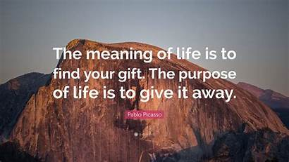 Picasso Pablo Meaning Gift Purpose Quote Give