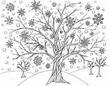 Coloring Winter Tree Printable Road Victory Least Able Every sketch template