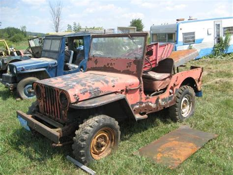 jeep old 3 cj 2as 1 cj 5 finger lakes ny sold ewillys