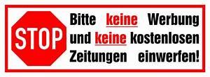 Bitte Keine Werbung Einwerfen Aufkleber Kostenlos : 1x bitte keine werbung einwerfen aufkleber wetterfest 70x25 mm mit laminat ebay ~ Frokenaadalensverden.com Haus und Dekorationen