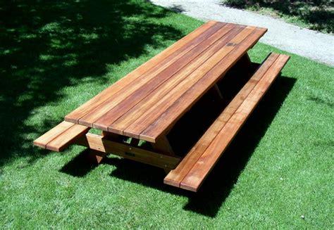 woodwork large picnic table plans  plans