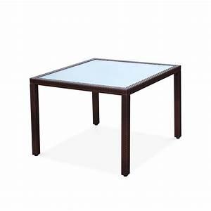 Table Jardin Tressée : table de jardin 100cm en r sine tress e 4 personnes ~ Premium-room.com Idées de Décoration