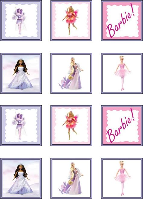printable barbie stickers part   home   day