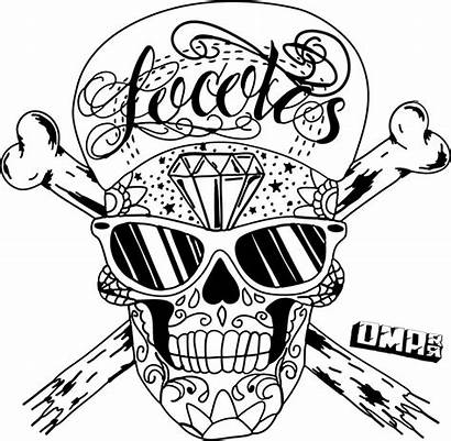 Skull Pencil Drawing Coloring Awesome Pages Adult