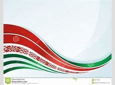 Vector Belarus Flag Design With Line And Ornament Stock