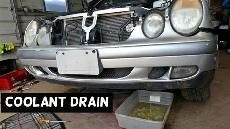 Mercedes Antifreeze by How To Drain Coolant Antifreeze On Mercedes W208 W202
