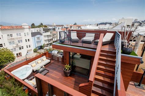 rooftop deck design is this the most amenities ever on one sf roof deck curbed sf
