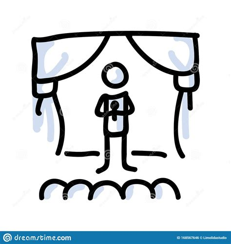 The motive is the smallest structural unit possessing thematic identity. Hand Drawn Stick Figure Performer On Stage. Concept Of Theatre Audience Actor. Simple Icon Motif ...