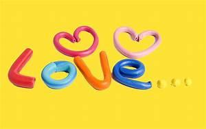 Cute Art Love Yellow Background #Wallpaper - HD Wallpapers