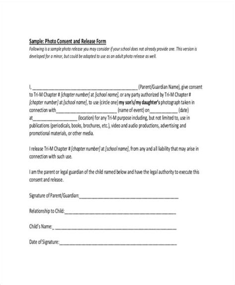 FREE 11+ Generic Photo Release Forms in PDF   MS Word