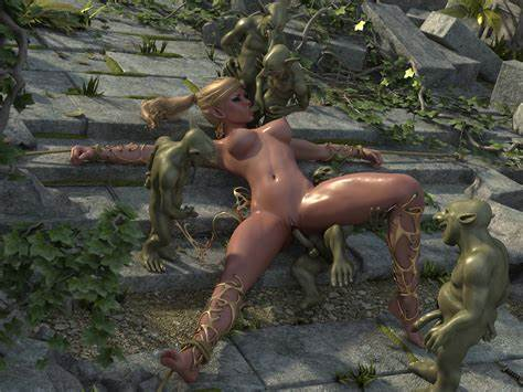 Seductive Elf Attacked And Gets By Crazy Tentacles