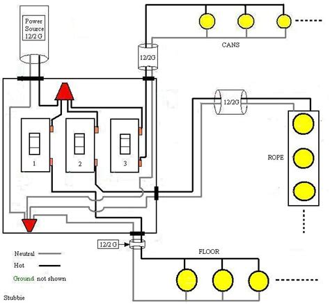 how to wire three switches on one circuit electrical