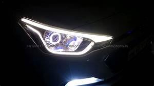 Hyundai I20 Elite Projector Headlights Dual Drl Custom Lights