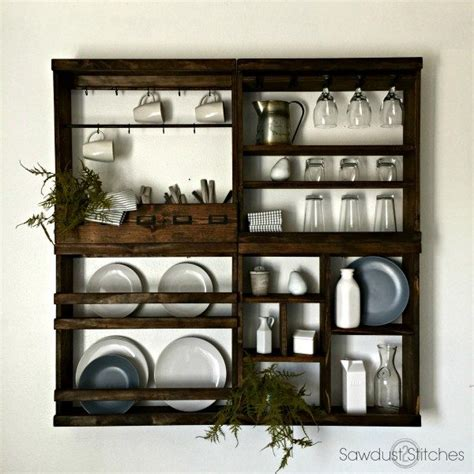 pottery barn inspired plate rack sawdust  stitches