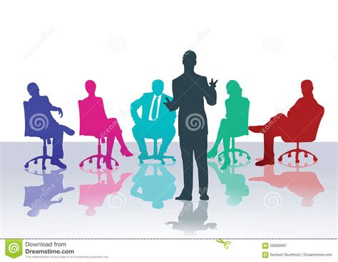 Business Meeting Or Counseling Course Stock Vector