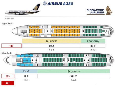 plan siege a380 le plan intérieur de la concurrence l 39 a380 de singapore