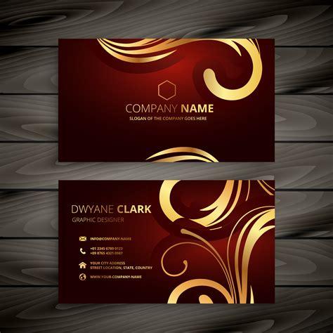 premium luxury red business card  golden decoration