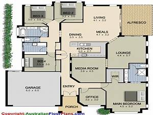 4-Bedroom Ranch House Plans 4 Bedroom House Plans, modern ...