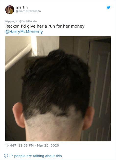 people stuck  quarantine  cutting   hair   hilarious results mode viral