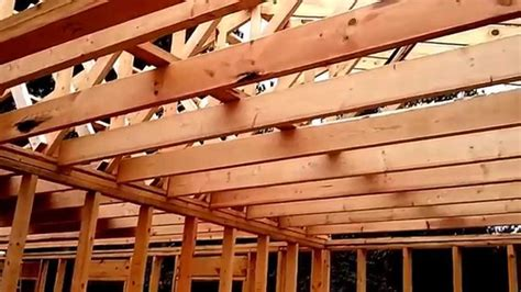 Ceiling Joist Hangers by Ceiling Joist Cabin In The Woods