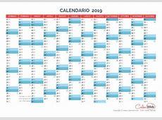 Calendario annuale Anno 2019 Planner annuale orizzontale
