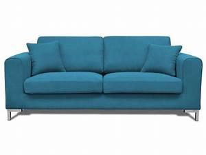 canape 3 places libao coloris bleu canard conforama With tapis design avec dimension canapé 3 places conforama