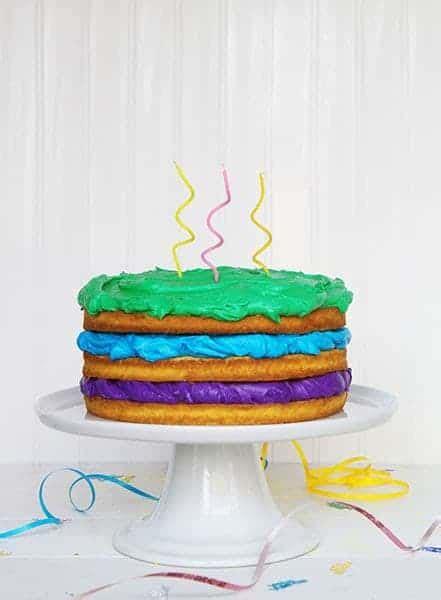 happy birthday naked cake   baker