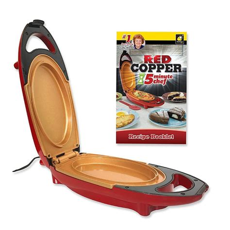red copper  minute chef electric cooker double coated eu plug sale  shopping