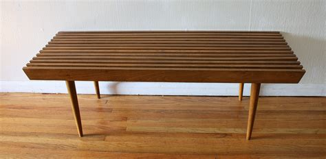 bench coffee table mid century modern slatted coffee table bench picked vintage