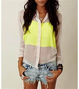 Hot fashion girl neon image on Favim