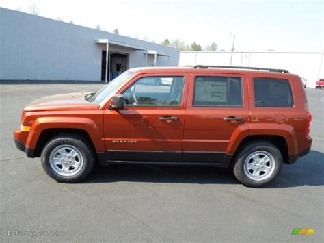 orange jeep patriot copperhead orange pearl 2012 jeep patriot sport exterior