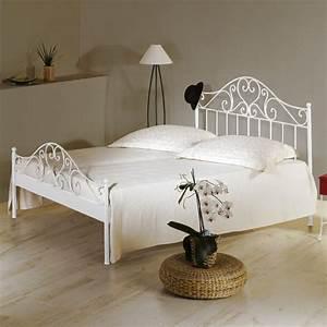 Weißes Bett 140x200 Mit Lattenrost Und Matratze : spanisches metallbett z b 140x200 cm in braun loria ~ Bigdaddyawards.com Haus und Dekorationen