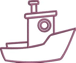 Tugboat Outline tugboat outline embroidery designs machine embroidery