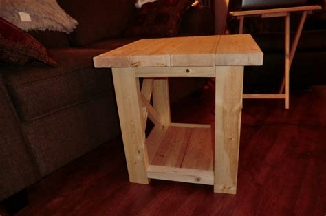 how to build a rustic table rustic end table plans plans diy free download homemade