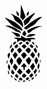 Pineapple Stencil Printable Outline Clip Coloring Silhouette Printablee Patterns Via Pattern sketch template
