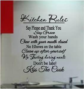 Kitchen Rules Vinyl Wall Art by CountryCraftandVinyl on