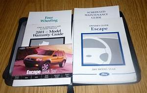 2001 Ford Escape Owners Manual Set 01 Guide W  Case