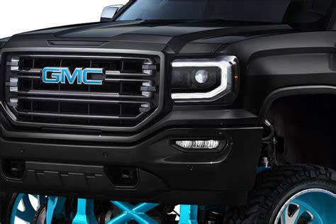 gmc sierra black retrofit headlights