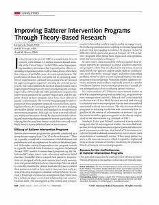Improving Batterer Intervention Programs Through Theory ...