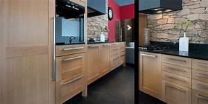 Cuisine Bois Massif : cuisine contemporaine bois cuisine en image ~ Premium-room.com Idées de Décoration