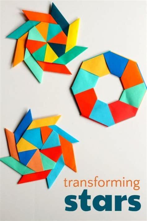 Origami Transforming Ninja Star Paper