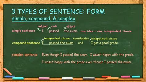 kinds  sentences  english language learn