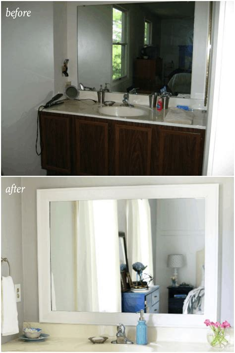 Builder Grade Bathroom Mirror by This Post Shares Simple But Brilliant Ideas For Updating