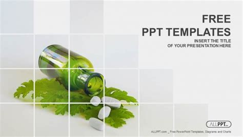 medicine herb  herbal pills powerpoint templates