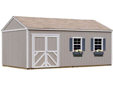 sheds for less handy home columbia 12x24 wood storage shed kit 18222 8