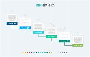 Colorful Diagram  Infographic Template  Timeline With 6